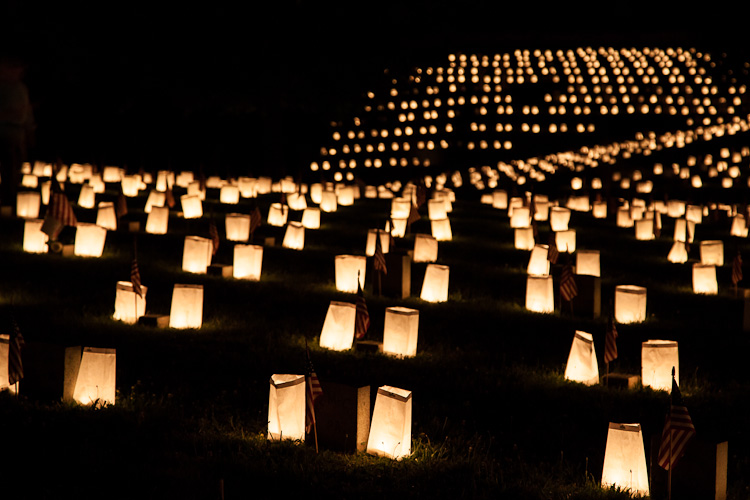 Fredericksburg's Memorial Day Luminaries